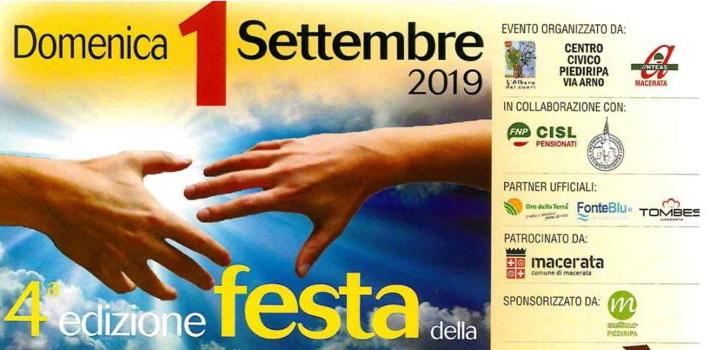 Nuova data per la Festa della Solidarietà 2019