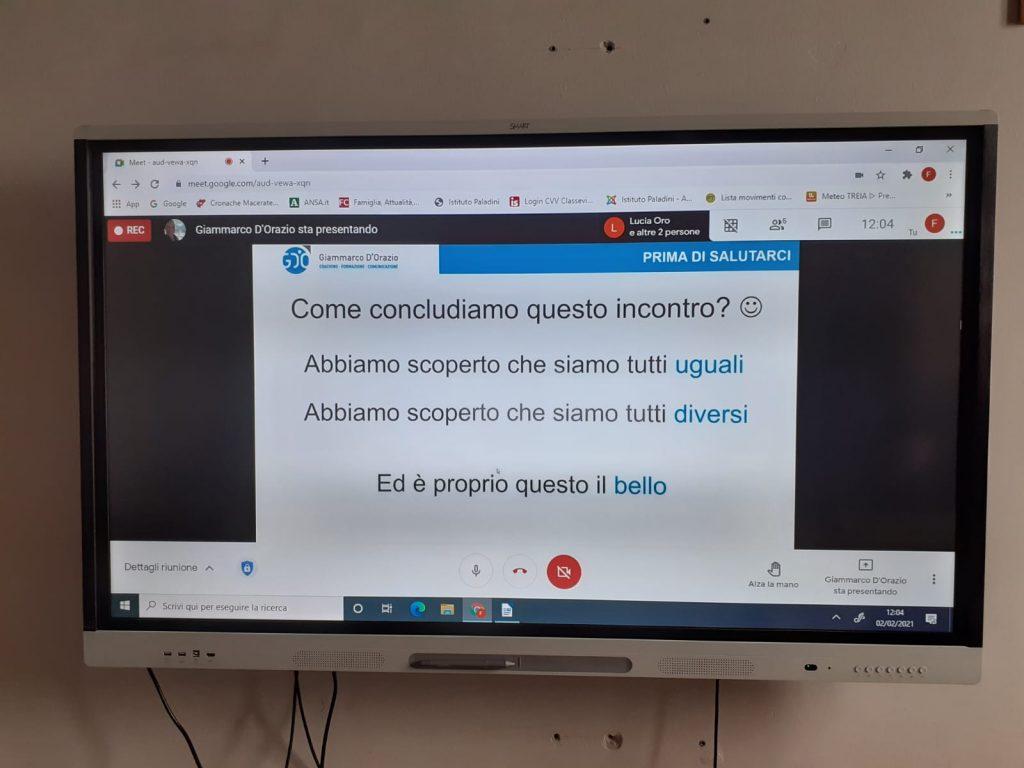 Workshop in videoconferenza scuola Treia